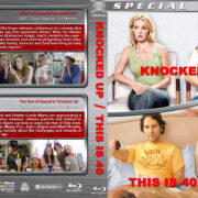 Knocked Up / This is 40 Double Feature (2007-2012) R1 Custom Blu-Ray Cover