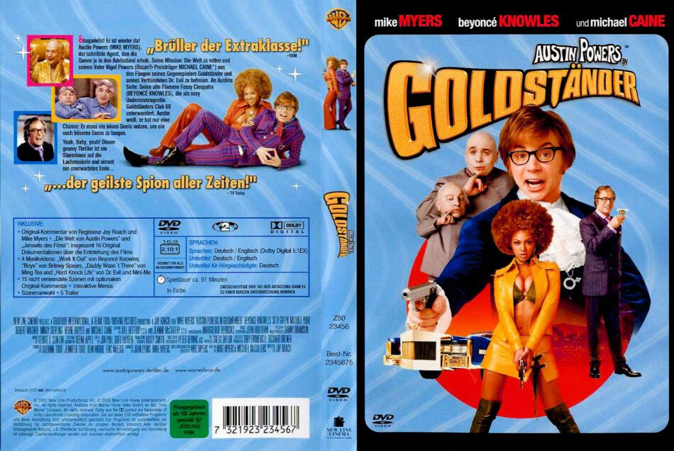 Austin Powers In Goldstander Dvd Cover 2002 R2 German