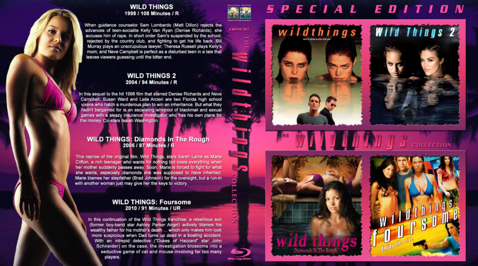 Wild Things Collection blu-ray cover (1998-2010) R1 Custom