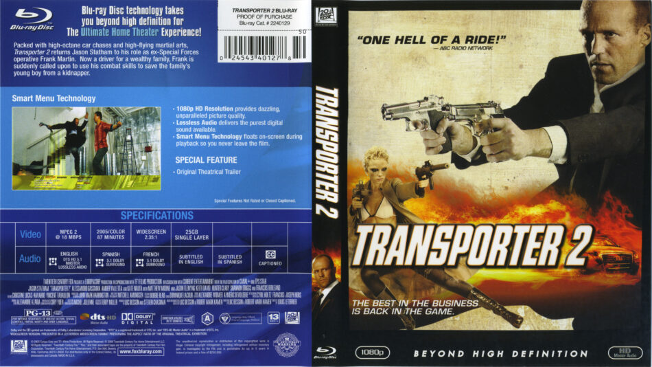Jack Mallon Media Coursework: Analysis of posters and DVD ... |Transporter 2 Dvd Cover