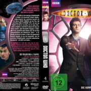 Doctor Who: Staffel 4 (2008) R2 German Custom Cover & labels