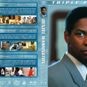 Denzel Washington Triple Feature (1993-1998) R1 Custom Blu-Ray Cover