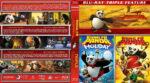 Kung Fu Panda Triple Feature (2008-2012) R1 Custom Blu-Ray Cover