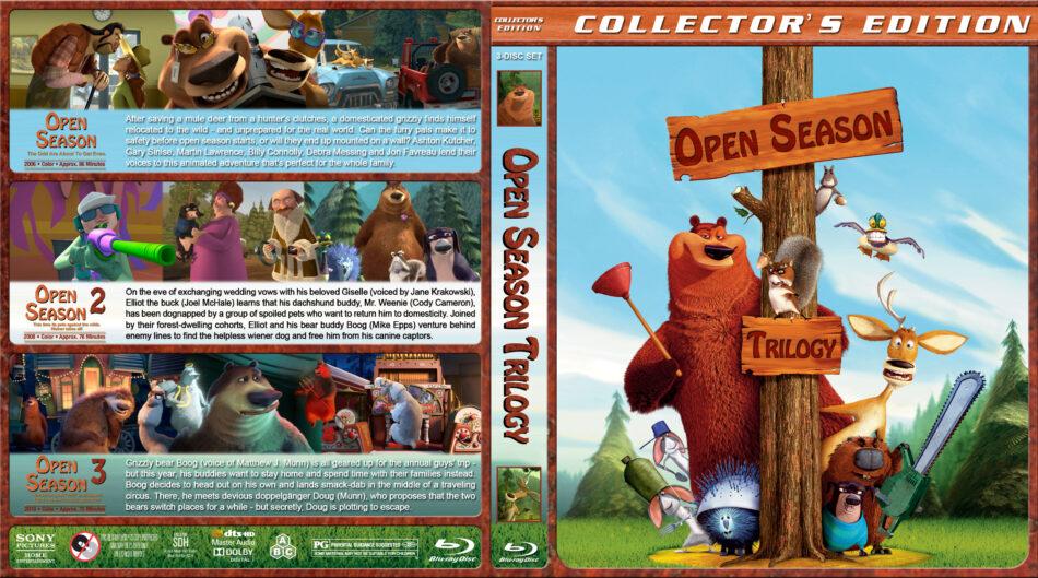 Open Season Trilogy Blu Ray Cover 2006 2010 R1 Custom