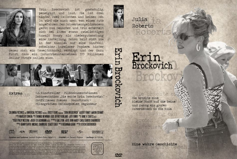 Erin Brockovich Dvd Cover 2000 R2 German