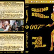 Casino Royale / Never Say Never Again Double Feature (1967-1983) R1 Custom Cover