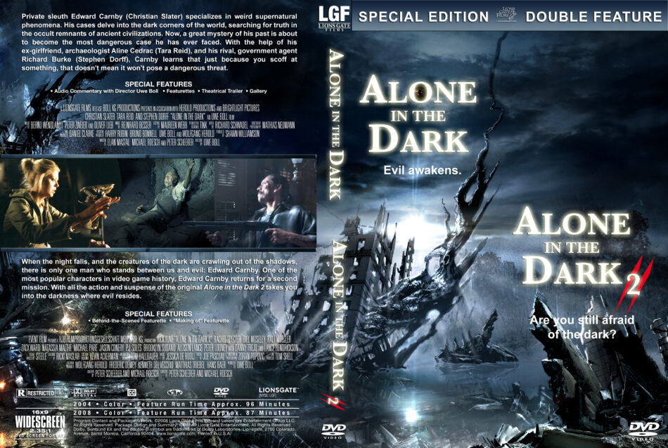 Alone In The Dark Double Feature Dvd Cover 2004 2008 R1 Custom