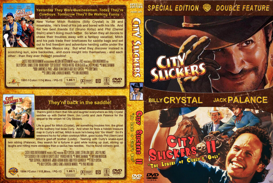 City Slickers Double Feature Dvd Cover 1991 1994 R1 Custom