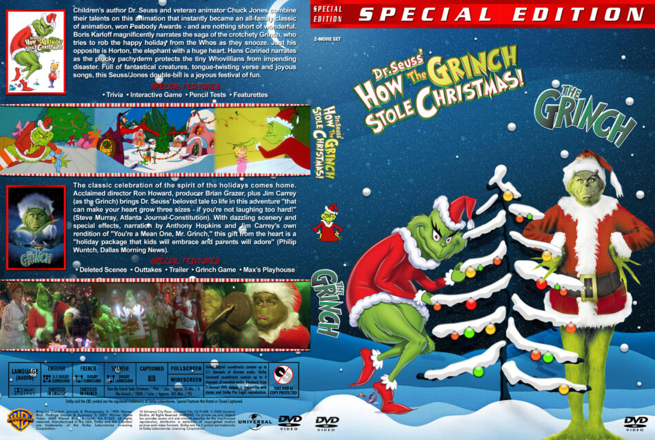 How The Grinch Stole Christmas 2020 Dvd Cover How the Grinch Stole Christmas / The Grinch Double Feature (1966
