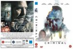 Criminal (2016) R2 Custom DVD Cover