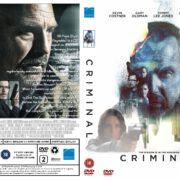 Criminal (2016) R2 Custom DVD Cover