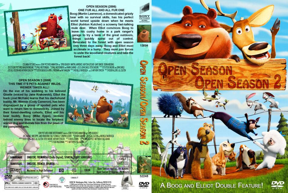 Open Season Double Feature Dvd Cover 2006 2008 R1 Custom