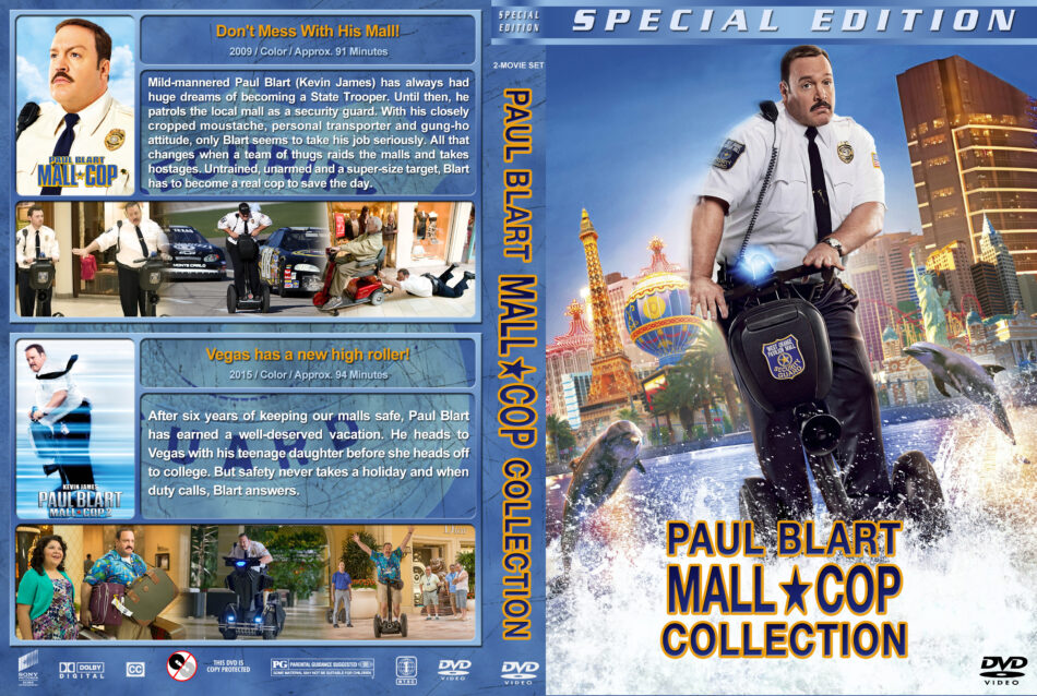 Paul Blart Mall Cop Collection Dvd Cover 2009 2015 R1 Custom