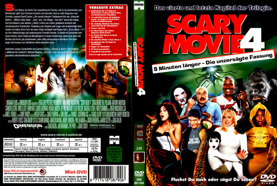 Scary Movie 4 Dvd Cover 2006 R2 German