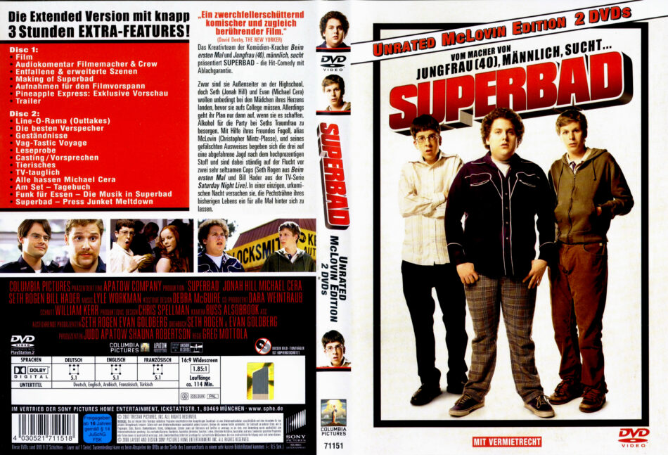 Superbad Dvd Cover 2007 R2 German