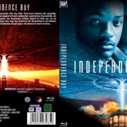 Independence Day (1996) R2 German Custom Blu-Ray Cover & label