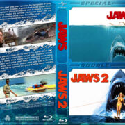 Jaws / Jaws 2 Double Feature (1975-1978) R1 Custom Blu-Ray Covers