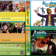 Willy Wonka / Charlie and the Chocolate Factory Double Feature (1971-2005) R1 Custom Cover
