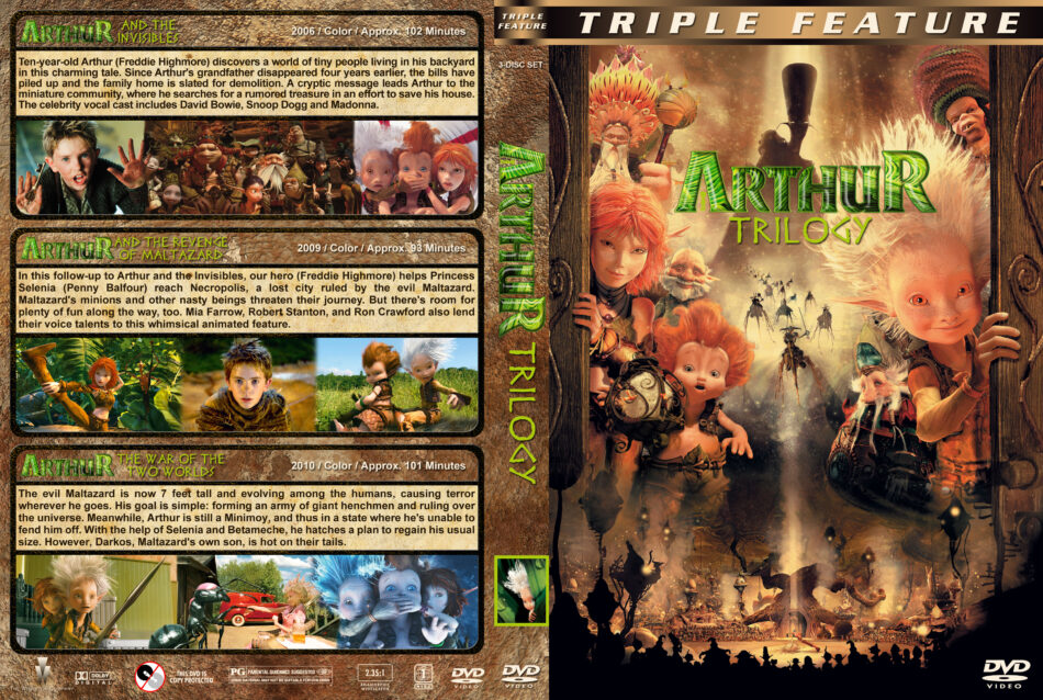 Arthur Trilogy Dvd Cover 2006 2010 R1 Custom