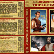 Ben-Hur / Spartacus / The Ten Commandments Triple Feature (1956-1960) R1 Custom Cover