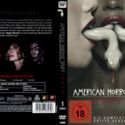 American Horror Story Coven: Staffel 3 (2013) R2 German Custom Cover & labels