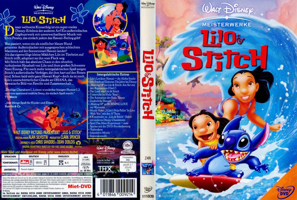 Lilo Stitch Dvd Cover 2002 R2 German