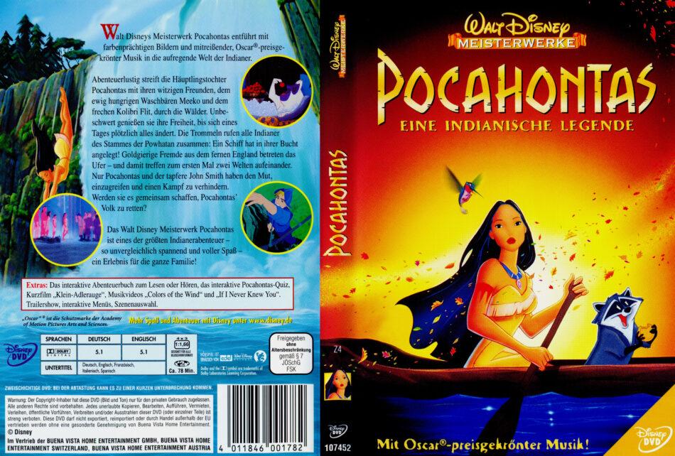 Pocahontas Dvd Cover 1995 R2 German