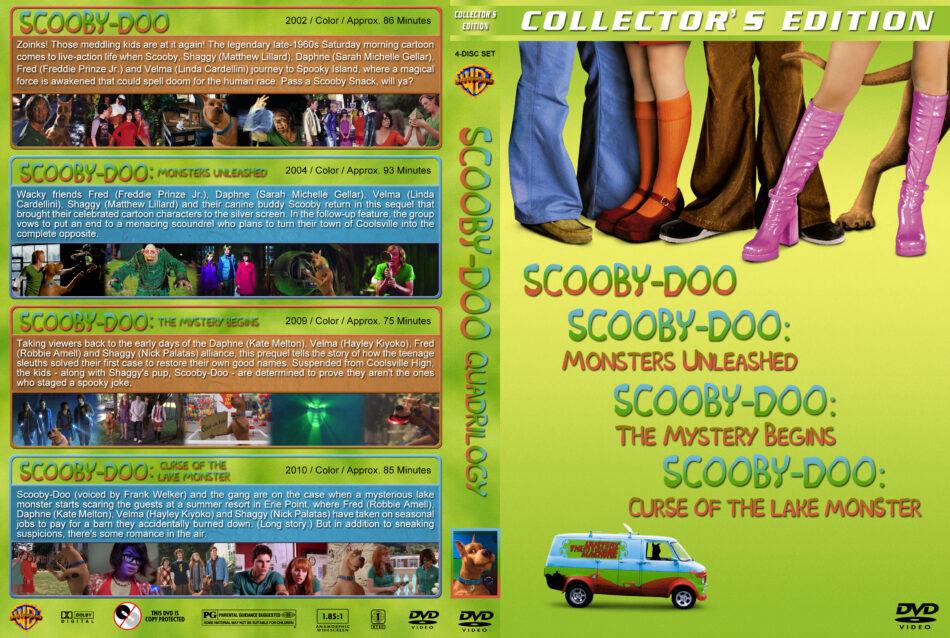 Scooby Doo Quadrilogy Dvd Cover 2002 2010 R1 Custom