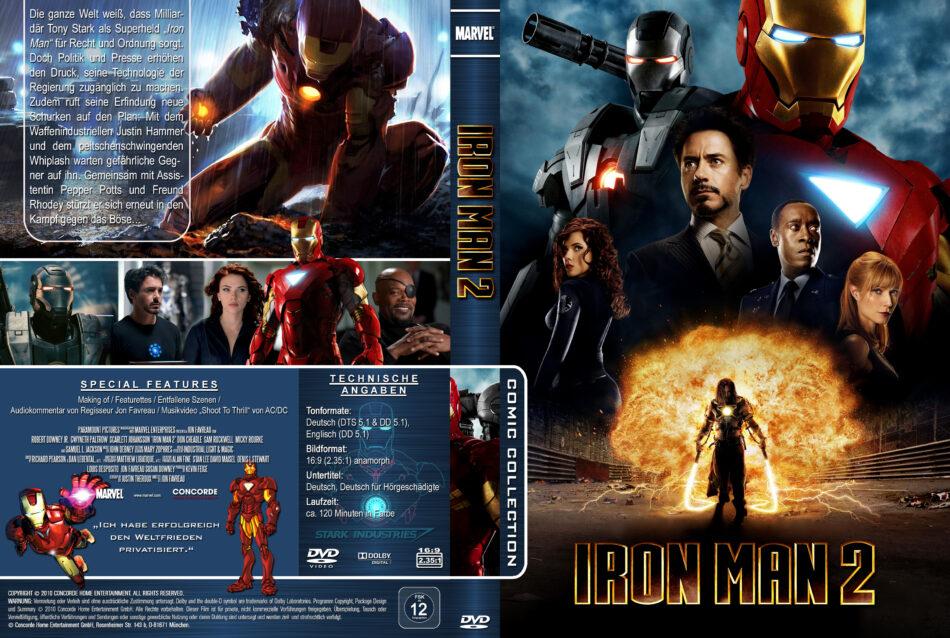 Iron Man 2 Dvd Cover 2010 R2 German Custom