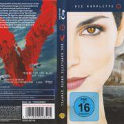 V – Die Besucher – Die komplette erste Staffel (2009) R2 German Blu-Ray Cover & label