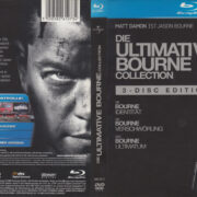 Die Ultimative Bourne Collection (2009) R2 German Blu-Ray Cover & labels