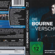 Die Bourne Verschwörung (2009) R2 German Custom Blu-Ray Cover & label