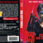 Die City Cobra (1986) R2 German Blu-Ray Cover & label