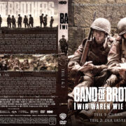 Band of Brothers - DVD 1 - Teil 1 & 2 (2002) R2 German Custom Cover & label