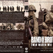 Band of Brothers - DVD 2 - Teil 3 & 4 (2002) R2 German Custom Cover & label