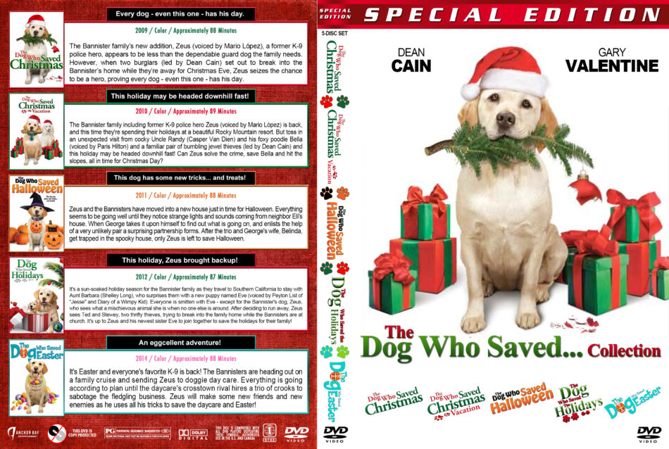 The Dog Who Saved Christmas.The Dog Who Saved Collection 5 Dvd Cover 2009 2014 R1