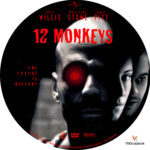 12 Monkeys (1995) R1 Custom Label