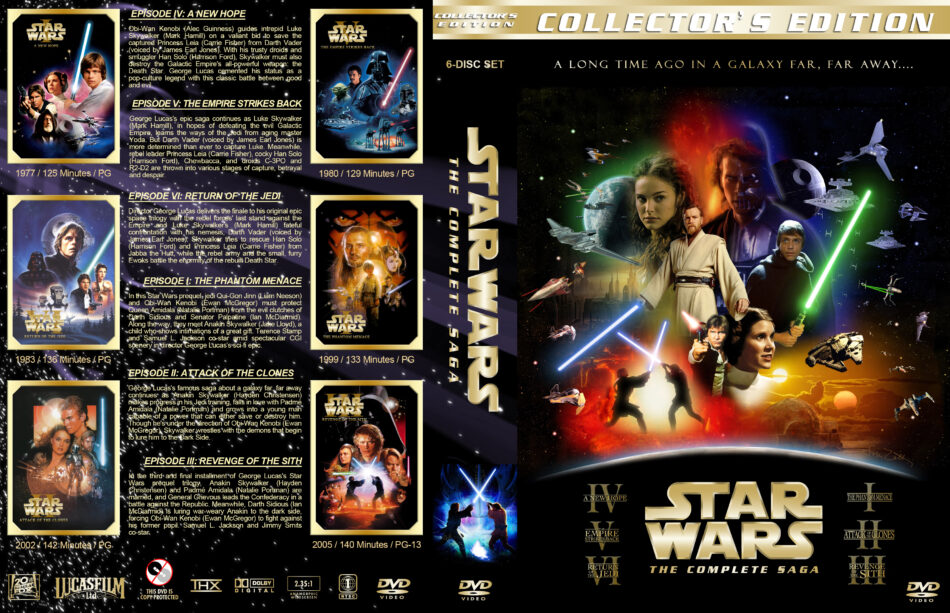 star wars the complete saga 6 dvd covers 19772005 r1