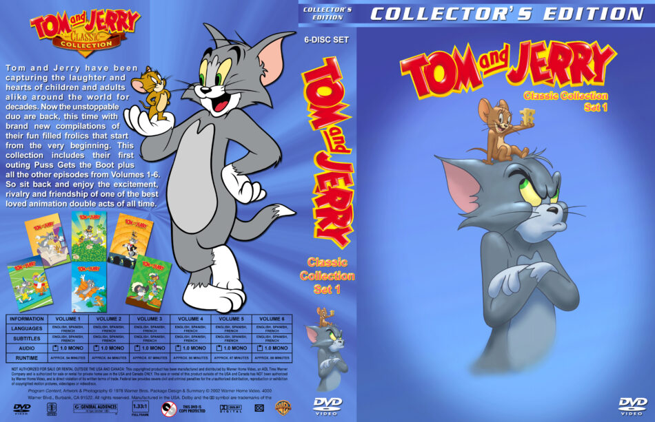 Tom and Jerry Classic Collection - Set 1 dvd cover (1978