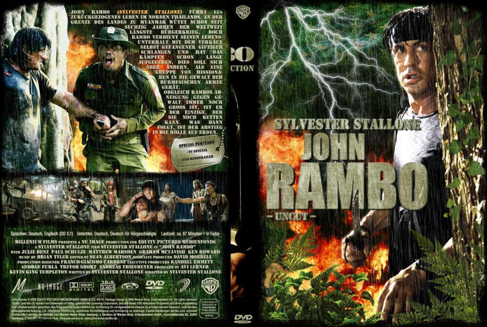 John Rambo dvd cover (2008) R2 German Custom