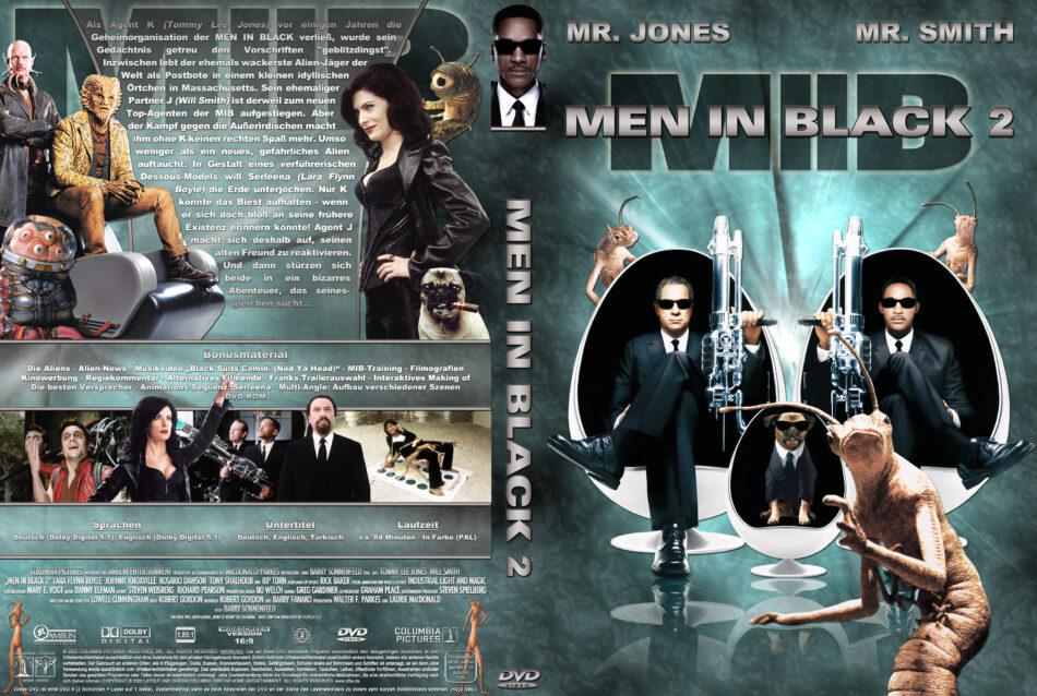 Men In Black 2 Dvd Cover Label 2002 R2 German Custom
