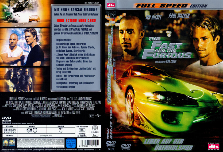 The Fast And The Furious Dvd Cover 2001 R2 German