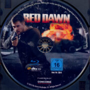 Red Dawn (2012) R2 German Blu-Ray Label