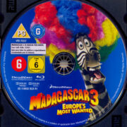 Madagascar 3: Flucht durch Europa (2012) R2 German Blu-Ray Labels