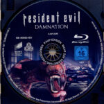 Resident Evil: Damnation (2012) R2 German Blu-Ray Label