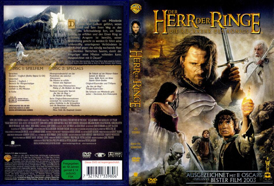Der Herr Der Ringe Die Rückkehr Des Königs Dvd Cover 2003
