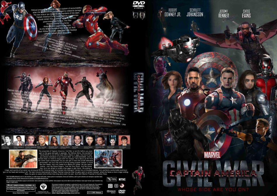 Captain America Civil War Cover 2016 R1 Custom