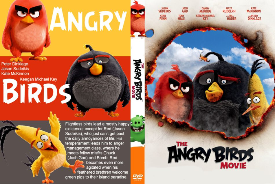 The Angry Birds Movie Dvd Cover Label 2016 R0 Custom