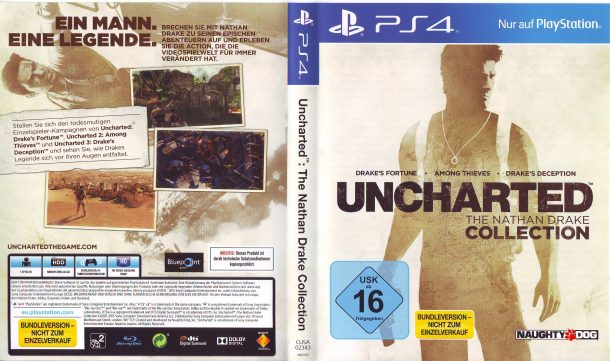 Uncharted The Nathan Drake Collection (2015) V2 PS4 German Cover