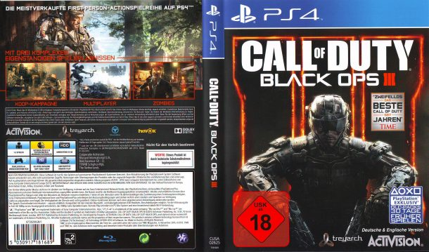 Call of Duty Black Ops 3 (2015) PS4 German Cover